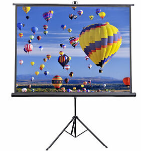 Vivo 84 034 Portable Projector Screen 4 3 Projection Pull Up Foldable Stand Tr