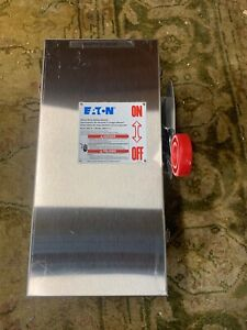Eaton Dh362fwk Heavy Duty Safety Disconnect Switch 60a 3p 600v
