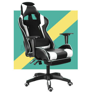 Executive Office Chair High Back Computer Gaming Chair Pu Leather Swivel Recline