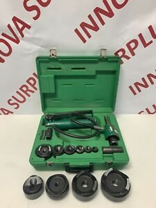 Greenlee Knockout Punch Set 1 2 4 With 767 Pump And 746 Ram 1