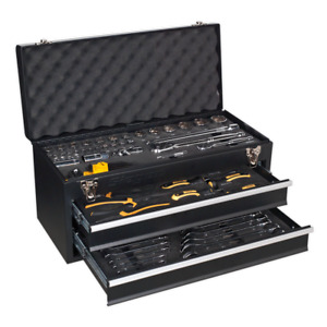 Bb21 Toolbox Portable Chest 2 Drawer Black 90pce Toolkit Lifetime Guarantee