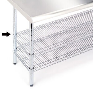 Seville Classics Extra Shelf For Stainless Steel Worktable she18308b 48 wx18 d