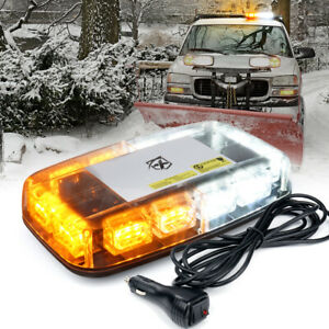 Xprite Amber White 36 Led Strobe Light Magnetic Rooftop Emergency Warning Trucks