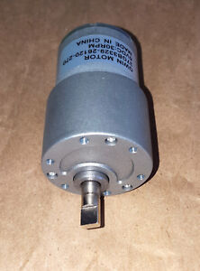 Super Powerful 30rpm Geared Reduction Motor 3 To 12vdc New Free Ship