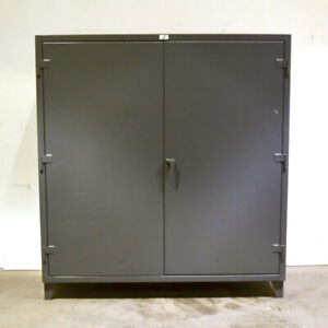Strong Hold 66 244g 12 gauge 72 x24 x72 4 shelf 3 point Lock Industrial Cabinet
