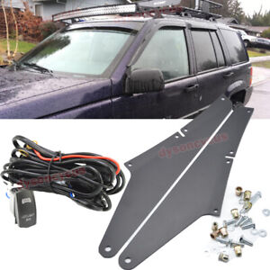 Fit 05 10 Jeep Grand Cherokee Wk 54 Curved Led Light Bar Roof Bracket Wiring
