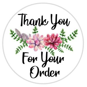 Thank You For Your Order Stickers Seals Multiple Sizes Great For Ebay