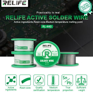 Relife Solder Wire 0 3 0 6mm Sn20 pb80 Tin Wire 40g Melt Rosin Core Solder Wire