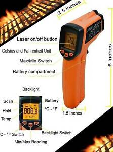 Gm320 Digital Infrared Thermometer Temperature Gun Non contact Ir Laser Point Rc