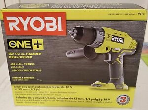 new 18 volt One Cordless 1 2 In Hammer Drill driver tool W Handle P214