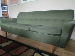 Mid Century Modern Love Seat Sofa Couch Low Profile