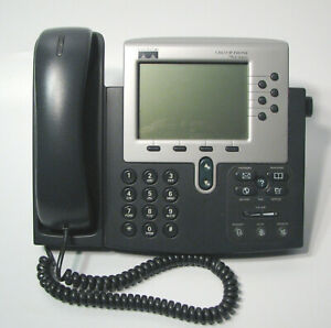 Cisco 7960g Sip Ip Phone Charcoal Voip Handset Adjustable Stand Working Pull