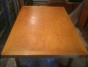 Vtg Large Danersk Wood Dining Table Draw Leaf Fold Up Easy Removal Retro