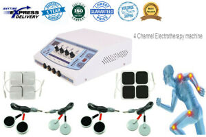 4 Channel Electrotherapy Machine Pulse Massager New Professional Home Use Physio