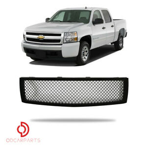 Fits 2007 2010 Chevy Silverado 1500 Front Hood Upper Grille Mesh Gloss Black