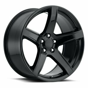 20x9 5 11 Dodge Wheels Hellcat Hc2 Style Gloss Black Challenger Charger Srt Rims