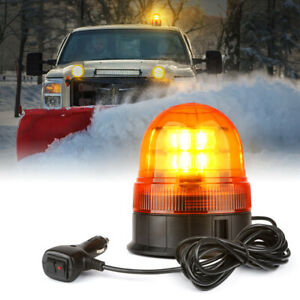 Xprite Amber Led Strobe Beacon Light Trucks Snow Plow Rooftop Emergency Warning