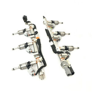 Genuine Ford 3 5l Turbo Ecoboost Fuel Injector Rail Assembly Injector 6 Set
