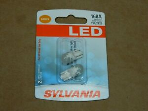 Sylvania Led 168a Amber Pair Set Led Lamps Bulbs 194 2825 New