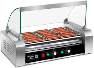 Giantex Electric Sausage Grill Hot Dog Grill Cooker 7 Rollers For 18 Hotdogs Sta