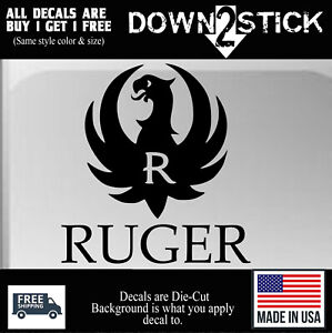 Ruger Firearms Sticker 2a Nra Gun Vinyl Decal Vehicle Window Car Truck Suv