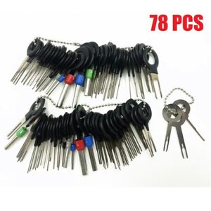 78pcs Wire Terminal Removal Tool Car Electrical Wiring Crimp Connector Pin Kit