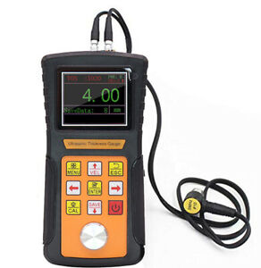 Ultrasonic Thickness Gauge Meter Usb Port 0 75 To 600mm Steel Led Color Display