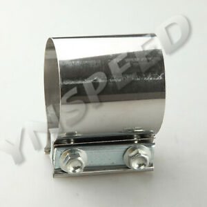 2 5 Inch Stainless Steel Exhaust Muffler Pipe Flat Band Clamp