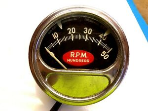 Vintage Sun Tachometer Gauge Rpm 0 5000 Hot Rod Rat Rod