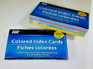 200 Colored Ruled Index Cards In Assorted Colors 3 x5