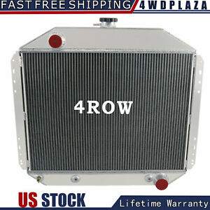 4 Row Aluminum Radiator Fit 66 79 Ford F 100 150 F250 350 Pickup Truck Chevy Eng