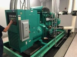 Immaculate 500kw Cummins Indoor Diesel Generator W Only 418 Hours