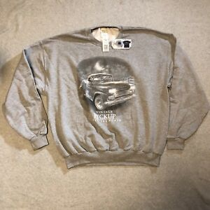 American Tradition Gray Sweatshirt Vintage Pickup Xl Feel The Power