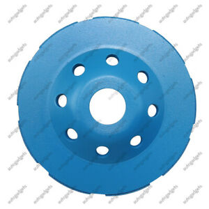 Diamond Cup Grinding Wheel Double Row Concrete 115mm 4 5 Blue Angle Grinder Us