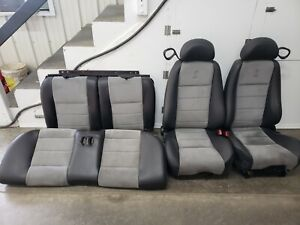 2003 2004 Mustang Cobra Grey Suede Leather Seats Coupe Oem Rare
