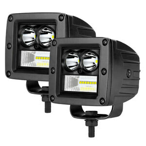 2x 3 90w Led Work Light Cube Bar Spot Flood Pods Truck Driving Fog Off Road Atv