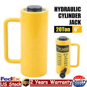 20 Ton 424cc Hydraulic Cylinder Jack 6 Stroke Single Acting For Small Workspace