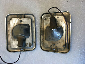 1 Pair Front Guide 1954 55 Chevy Gmc Truck Park Lights