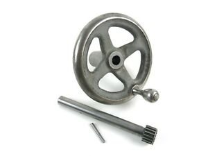South Bend Heavy 10 10l Lathe Apron Hand Wheel And Pinion Gear W Tapered Pin