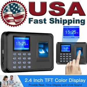 2 4 Tft Lcd Fingerprint Scanner Employee Attendance Check In Out Time Clock