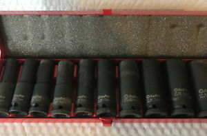 Ampro 1 2 Impact Socket Set 6 Point Metric Set Of 10