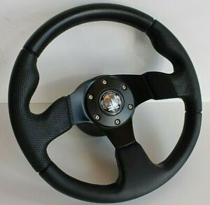 Steering Wheel Mercedes Benz Amg Badge Perforated Leather W123 W124 W201 79 92
