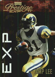 1999 Playoff Prestige EXP Reflections Gold Rams Football Card #81 Amp Lee 1000 $1.20