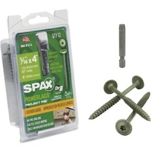 Spax Powerlags Exterior Washer Head Structure Screw
