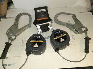 Miller honeywell Turbolite Twin Self Retracting Lifeline Cable Fall Protection