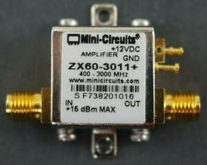 Mini circuits Zx60 3011 Broadband Rf Amplifier Lna 400mhz 3 0ghz 21dbm Gain