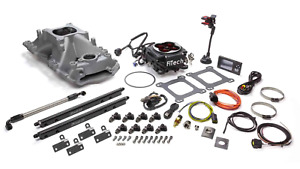 Fitech Fuel Injection 37854 Go Port Sbc 200 550hp Efi System W Black Tb