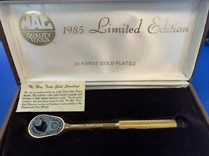 Mac Tools 1985 Limited Edition 24kt Gold Plated 3 8 Ratchet Xr85