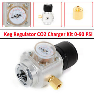 Co2 Charger Kit Keg Regulator Fit For Soda Stream Cylinder Draft Beer Homebrew
