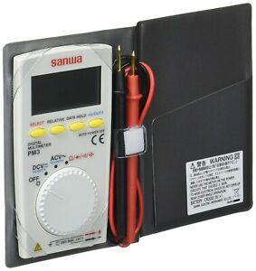 Sanwa Instrument Digital Multi meter Pm 3 Pocket Size Sanwaelectric New From Jp